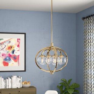 Buy clear Bynoe 4-Light Globe Chandelier By Mercury Row