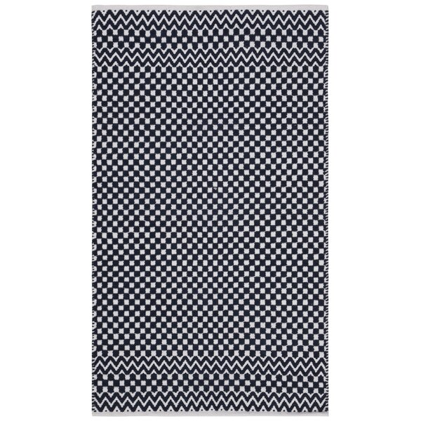 Redbrook Hand-Tufted Cotton Navy Area Rug by Wrought Studio
