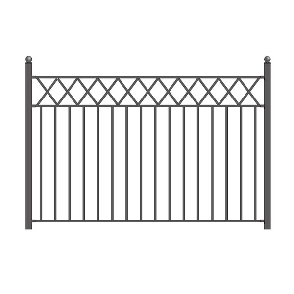 5 ft. H x 8 ft. W Stockholm Steel Fence Panel by ALEKO