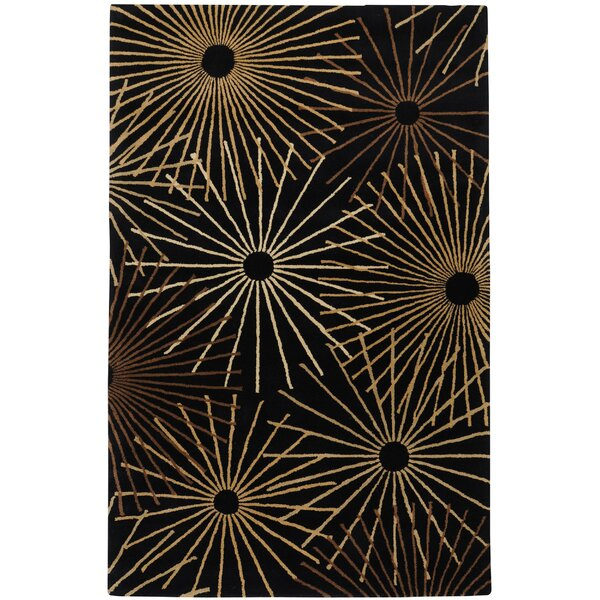 Deweese Black Area Rug by Ebern Designs