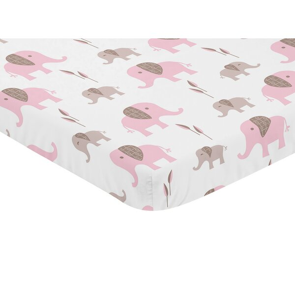 Mod Elephant Fitted Crib Sheet by Sweet Jojo Designs