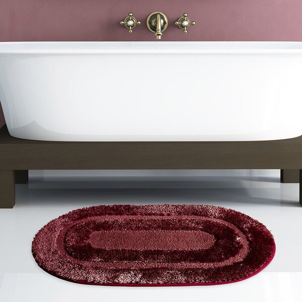 Toney Oval 100% Microfiber 2 piece Bath Rug Set (Set of 2)