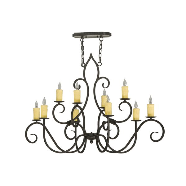 Elivra 10 - Light Candle Style Classic / Traditional Chandelier By Fleur De Lis Living