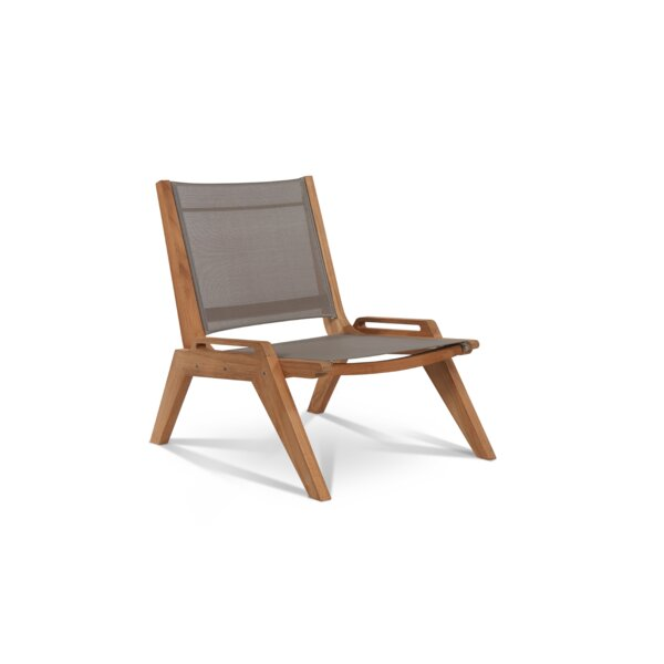 Jaime Sling Teak Patio Chair by Foundry Select Foundry Select