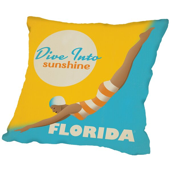 Divesunshine Fl Throw Pillow by Americanflat
