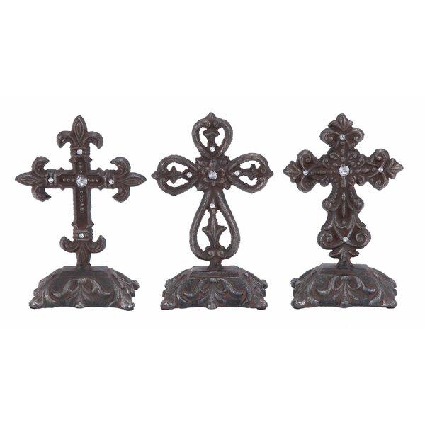 3 Piece Metal Cross Sculpture Set by Cole & Grey
