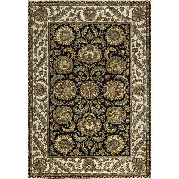 One-of-a-Kind Handwoven Wool Black/Beige/Green Indoor Area Rug by Bokara Rug Co., Inc.