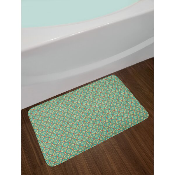 Vintage Oval Turquoise Bath Rug by East Urban Home