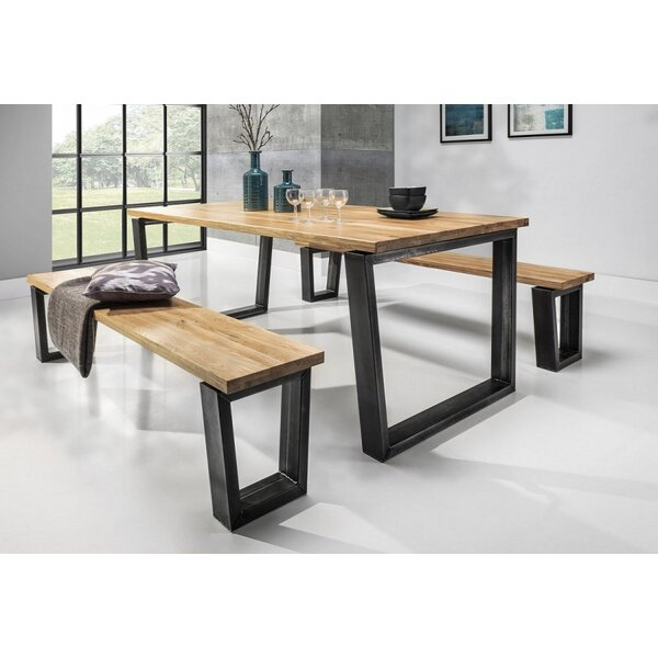 Davis 3 Piece Solid Wood Dining Set by Brayden Studio