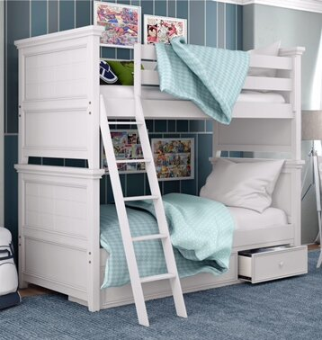 Poulan Bunk Bed with Drawers by Three Posts Baby & Kids
