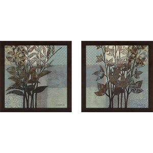 'Western Breeze' 2 Piece Framed Graphic Art Print Set Under Glass by Andover Mills