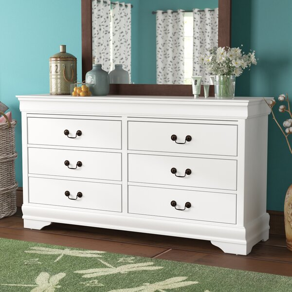 Barrett 6 Drawer Wood Dresser by Alcott Hill