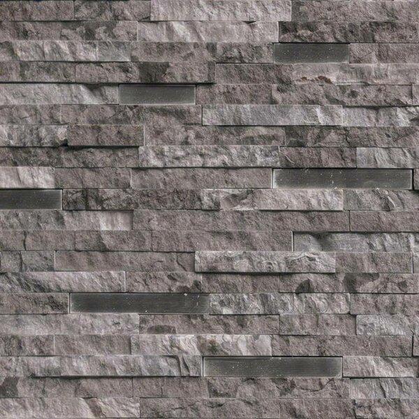 Eclipse Interlocking Pattern Random Sized Stone/Metal Splitface Tile in Gray by MSI