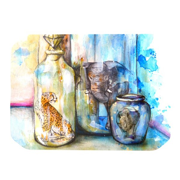Bottled Animals Placemat by KESS InHouse