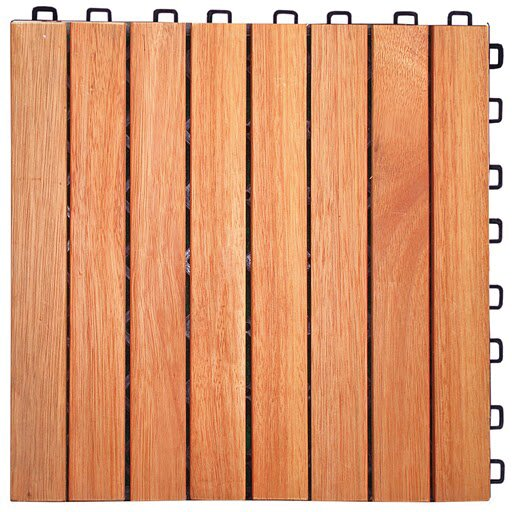 Eucalyptus 12 x 12 Interlocking Deck Tile by Sympl