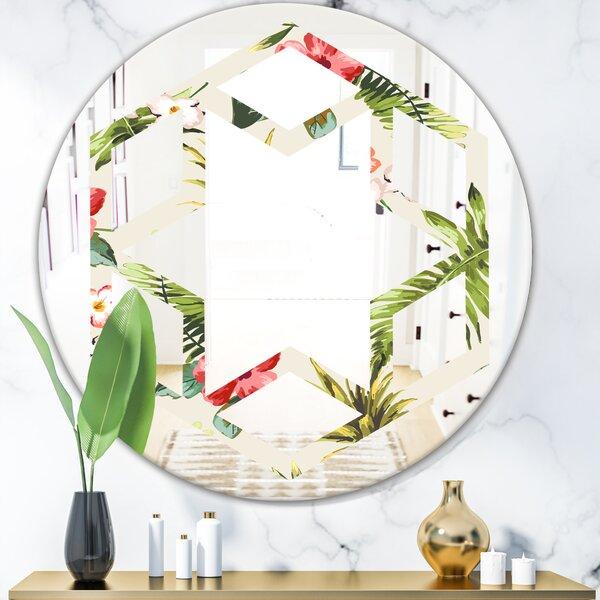 Hexagon Star Pineapple Summer Bliss IV Coastal Frameless Wall Mirror