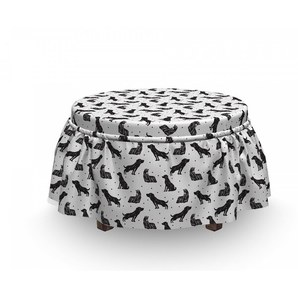 Types Of Dogs Polka Dots Ottoman Slipcover (Set Of 2) By East Urban Home