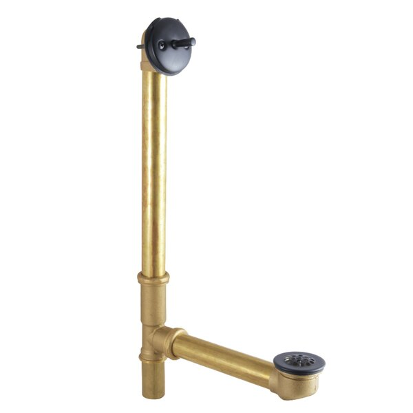Trip Lever Waste Leg Tub Drain with Overflow by Kingston Brass