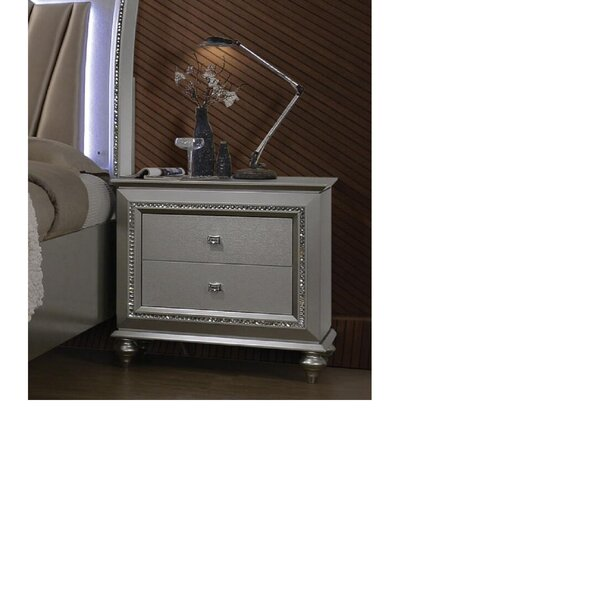Widman 2 - Drawer Nightstand in Champagne by Rosdorf Park Rosdorf Park
