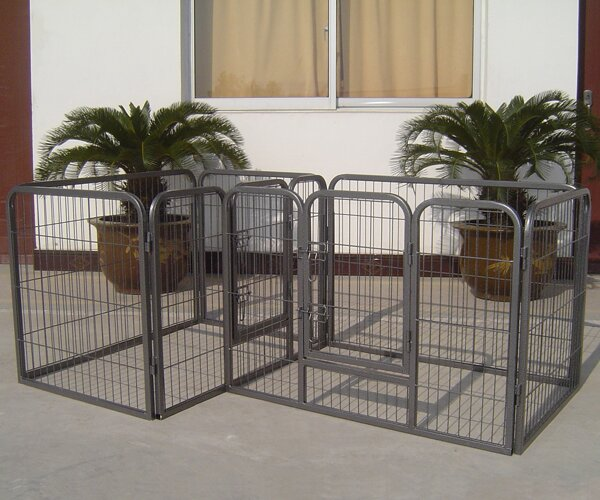 28 Newcastle Heavy Duty Double Divided Tube Dog Pen by Tucker Murphy Pet