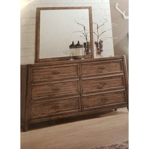 Nathen 6 Drawer Double Dresser with Mirror by Millwood Pines