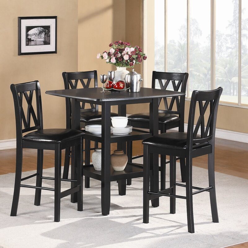 Kathie 5 Piece Counter Height Dining Set & Darby Home Co Kathie 5 Piece Counter Height Dining Set \u0026 Reviews ...