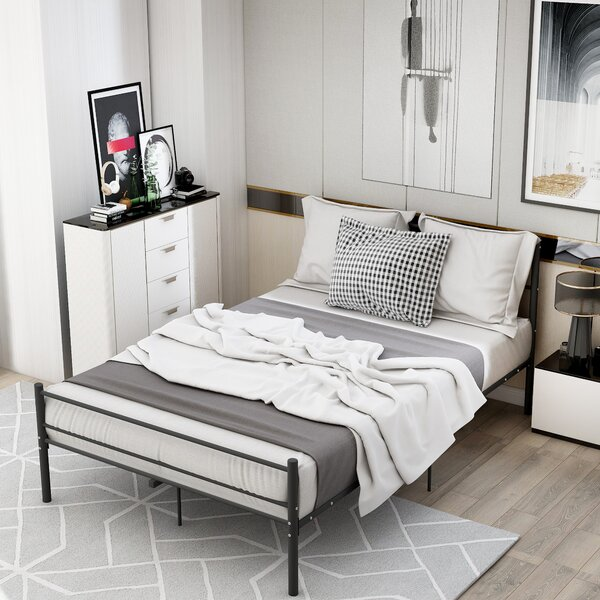 Shailena Metal Full Platform Bed by Latitude Run