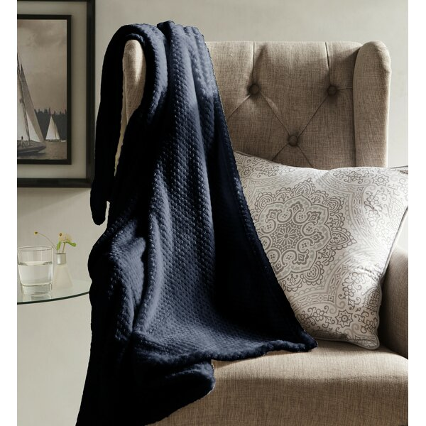 Lidiya Textured Fleece Throw Blanket by Laurel Foundry Modern Farmhouse