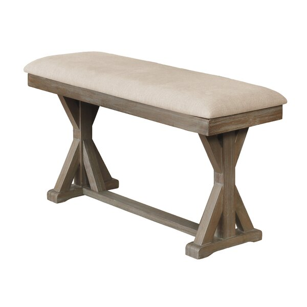 Gillian Counter Height Upholstered Bench by Gracie Oaks Gracie Oaks