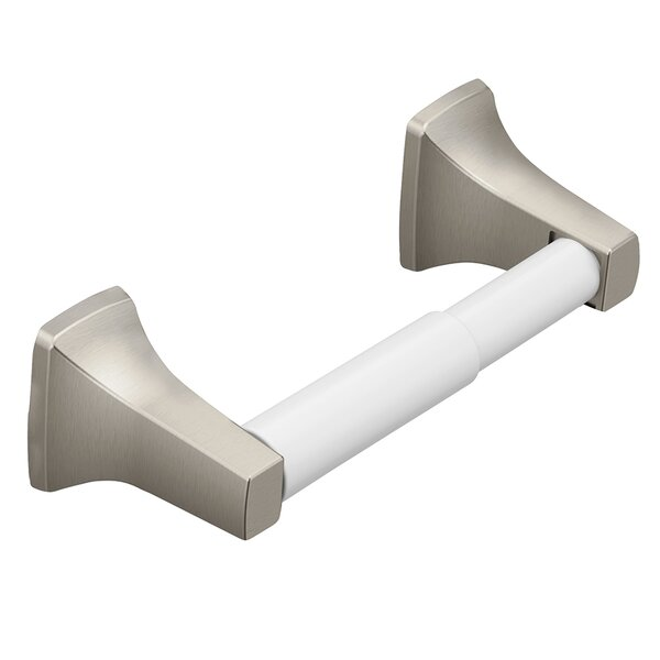Donner Contemporary Wall Mount Toilet Paper Holder by Moen
