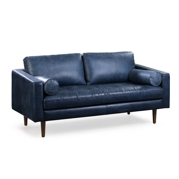 A Wide Selection Of Kate Genuine Leather Sofa by Foundry Select by Foundry Select