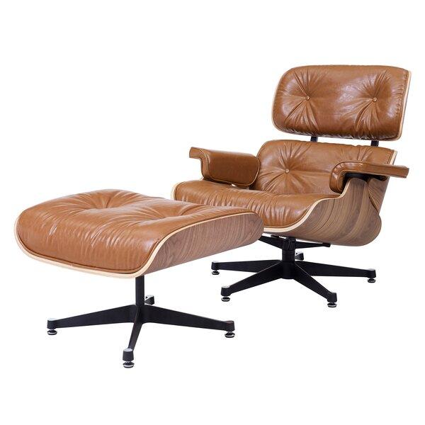 Hamilton Swivel Lounge Chair and Ottoman by Brayden Studio Brayden Studio®