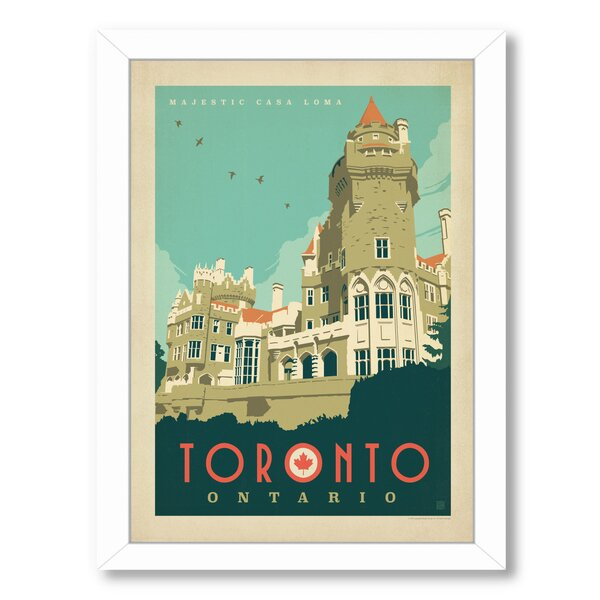 Toronto C Loma Framed Vintage Advertisement by East Urban Home
