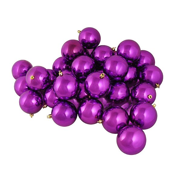 Shiny Shatterproof Christmas Ball Ornament (Set of 12) by The Holiday Aisle