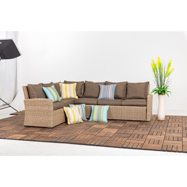 Stoner 2 Piece Rattan Sectional Seating Group with Cushion by Bay Isle Home