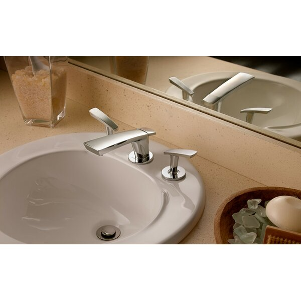 Naru Widespread Bathroom Faucet with Drain Assembly
