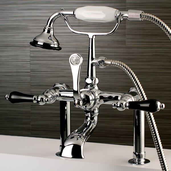Duchess Triple Handle Deck Mount Clawfoot Tub Faucet by Kingston Brass