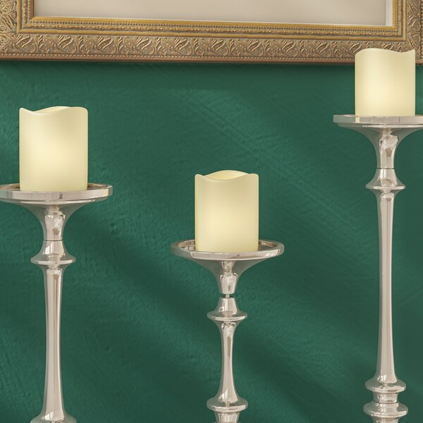 LED Waxy Scented Flameless Candle by Three Posts