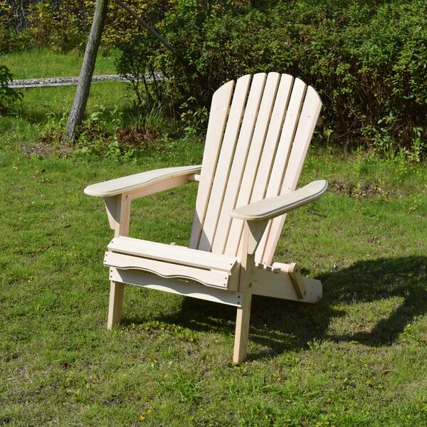 Lissette Folding Adirondack Chair by Beachcrest Home