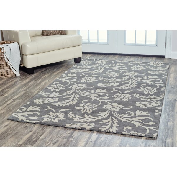 Ostrander Hand-Tufted Gray Area Rug by One Allium Way