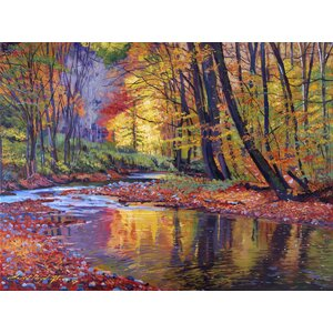 'Autumn Prelude' by David Lloyd Glover Painting Print on Wrapped Canvas by Buy Art For Less