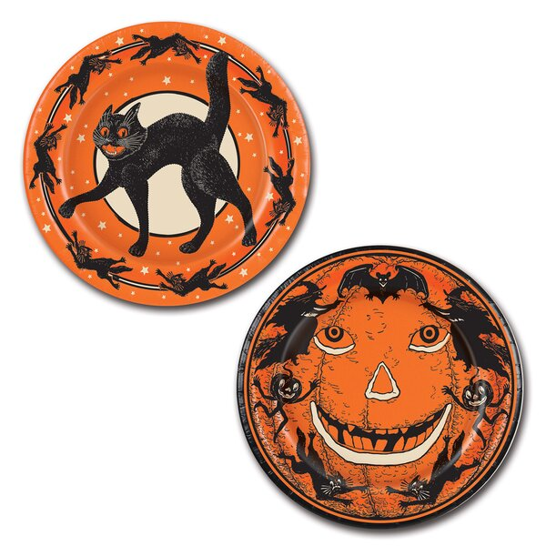 Halloween Vintage Dessert Plate Set Of 8 By The Beistle Company.