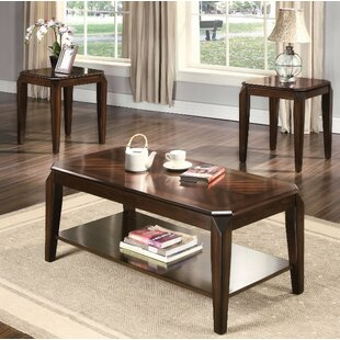 Fortson Coffee and End Table Set (Set of 3) Winston Porter