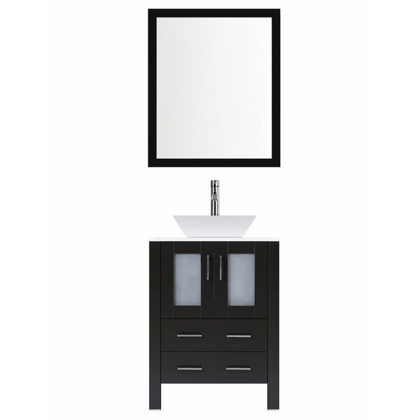 Modern 30 Single Bathroom Vanity Set with Mirror by LessCare