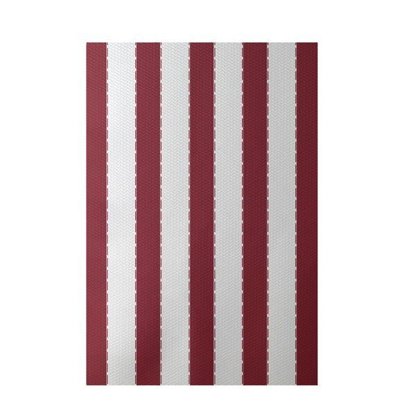 Stripe Orange Indoor/Outdoor Area Rug by e by design