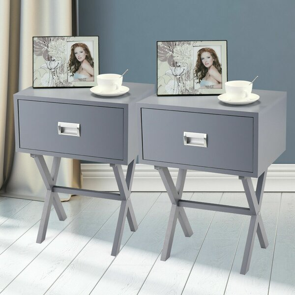 Faizan 1 Drawer Nightstand (Set of 2) by Latitude Run Latitude Run