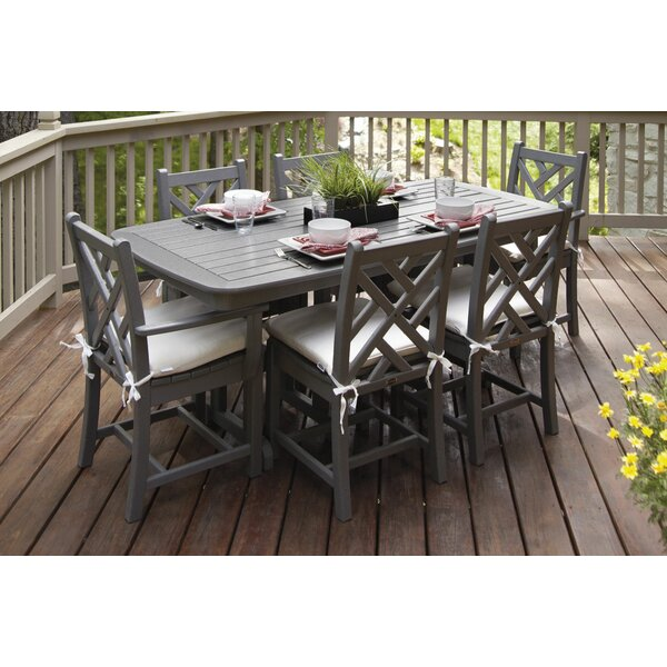 Chippendale 7-Piece Dining Set with Cushions by POLYWOOD®