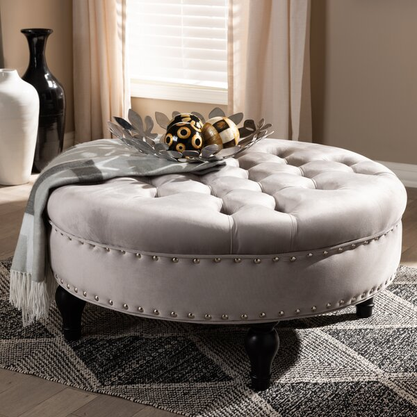 Capo Tufted Cocktail Ottoman by House of Hampton