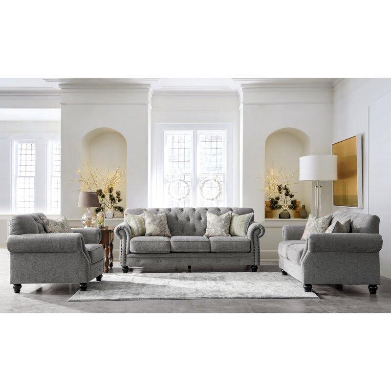 Charlton Home Acanva Configurable 3 Piece Living Room Set Wayfair