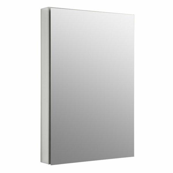 Catalan 23.375 x 35.25 Aluminum Single-Door Medicine Cabinet with Degree Hinge by Kohler